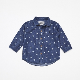 Camisa Jeans Baby M/L